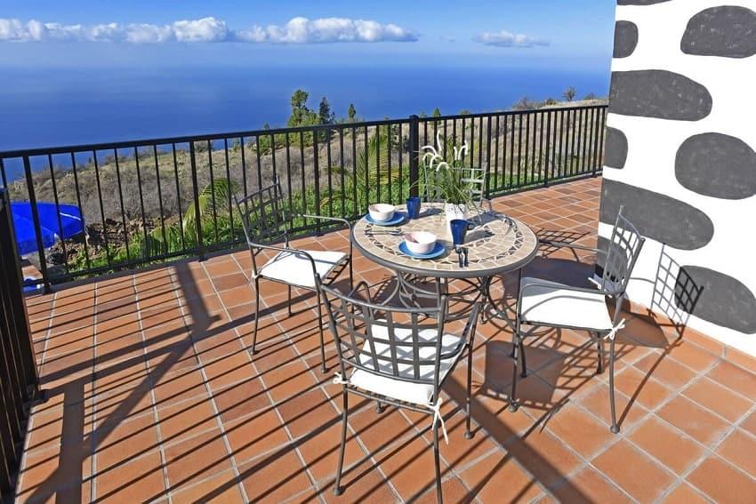 Terrasse, Casa Pastor, Ferienhaus Tijarafe, La Palma