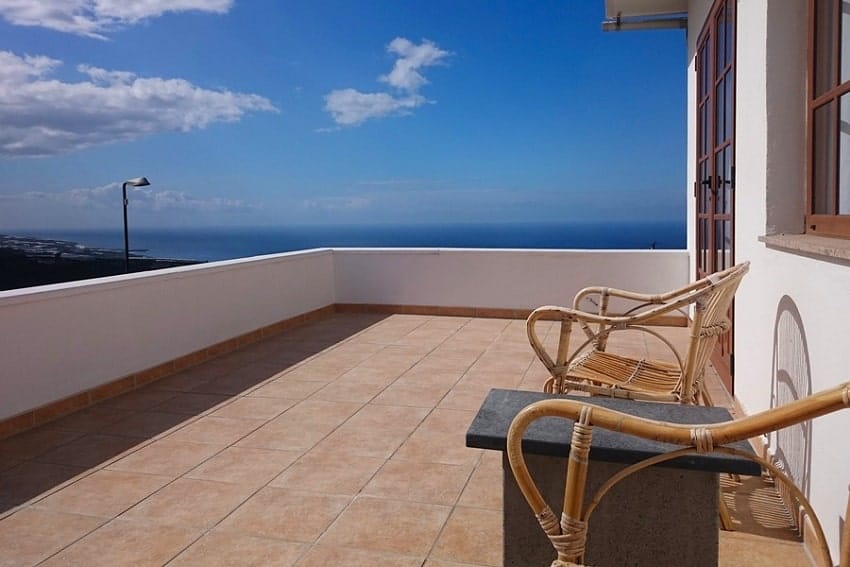 Terrace, Casa Vista Caldera, Country House La Palma
