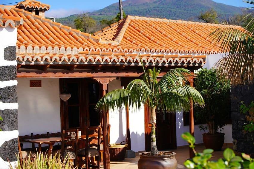 Terrasse, Finca Esperanza, La Palma