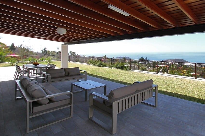Terraza, Villa Royal, Casa Rural La Palma
