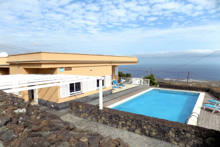 Spain - Canary Islands - El Hierro - Tigaday - Villa Tibataje - Holiday villa with private swimming pool and stunning ocean and mountain views