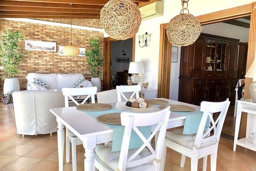 Wintergarten, Essbereich, Villa Tajuya, Ferienhaus La Palma