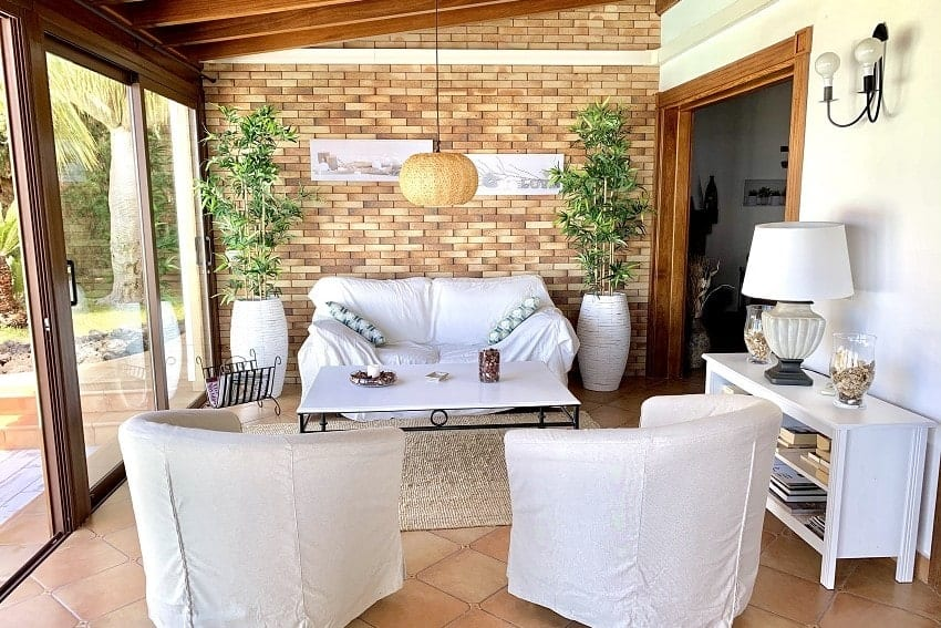 Wintergarten, Lounge, Villa Tajuya, Ferienhaus La Palma
