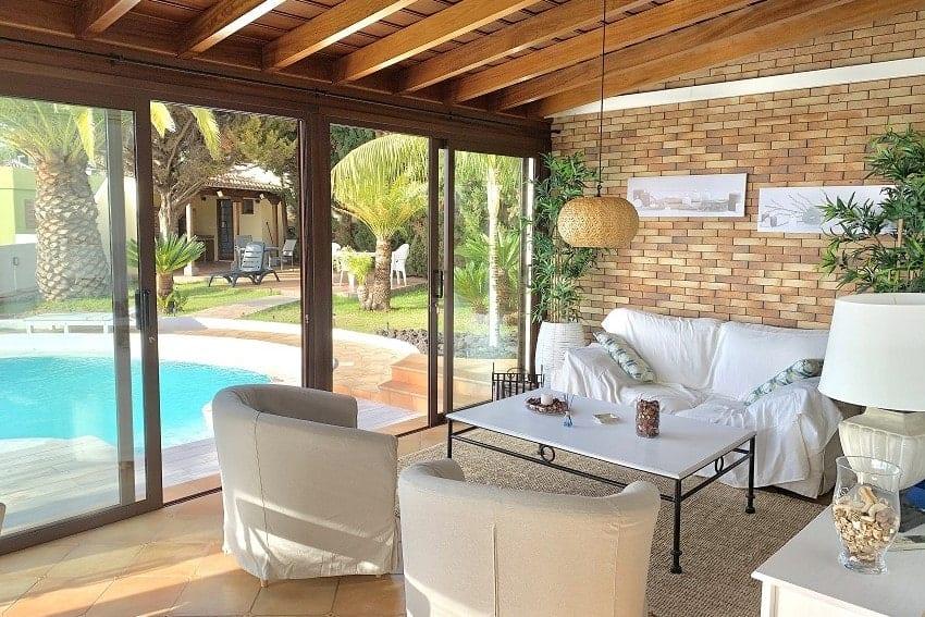 Wintergarten, Villa Tajuya, Ferienhaus La Palma