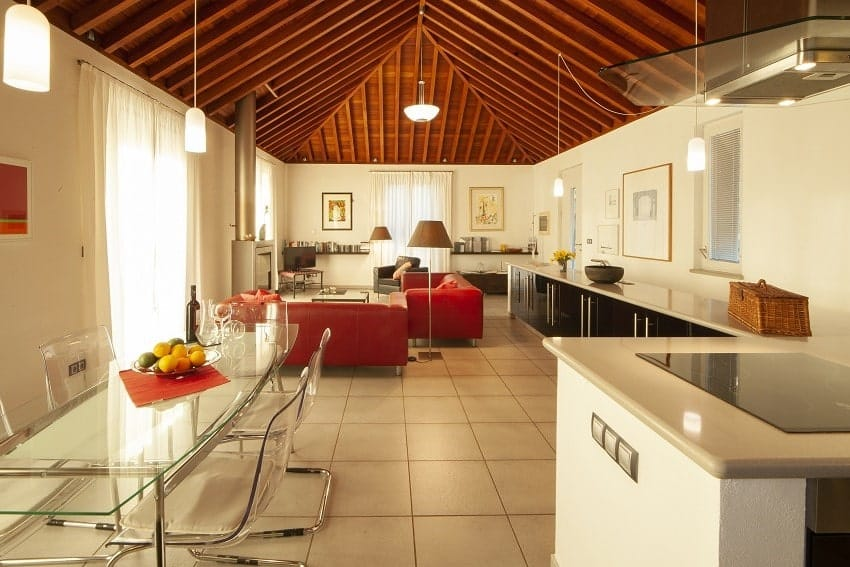 Living and Dining Area, Casa San Borondon, Luxury Holiday Home La Palma