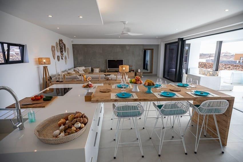 Living Area, Kitchen, Villa Odo, Villa Fuerteventura