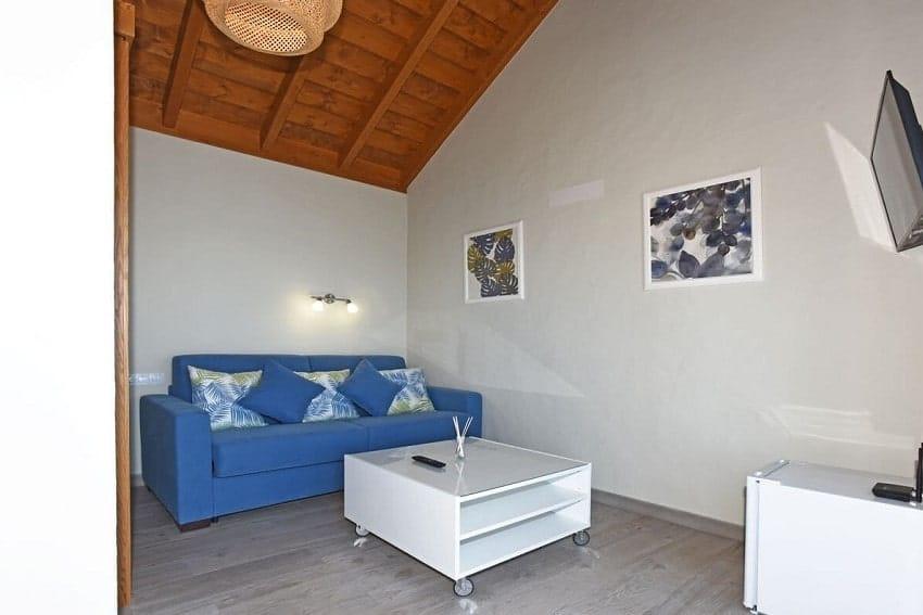 Wohnbereich, Schlafzimmer, Nebengebäude, Casa Pastor, Ferienhaus Tijarafe, La Palma
