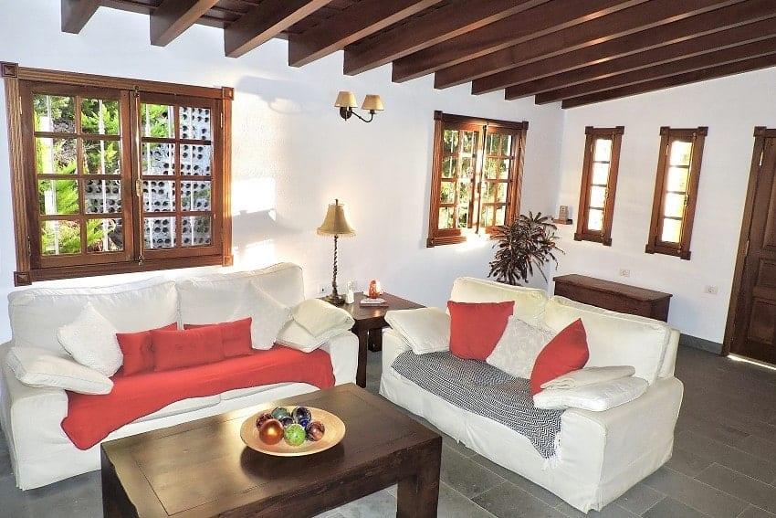 Wohnbereich, Villa Tajuya, Ferienhaus La Palma