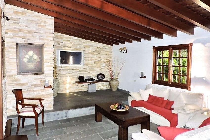 Wohnzimmer, Villa Tajuya, Ferienhaus La Palma
