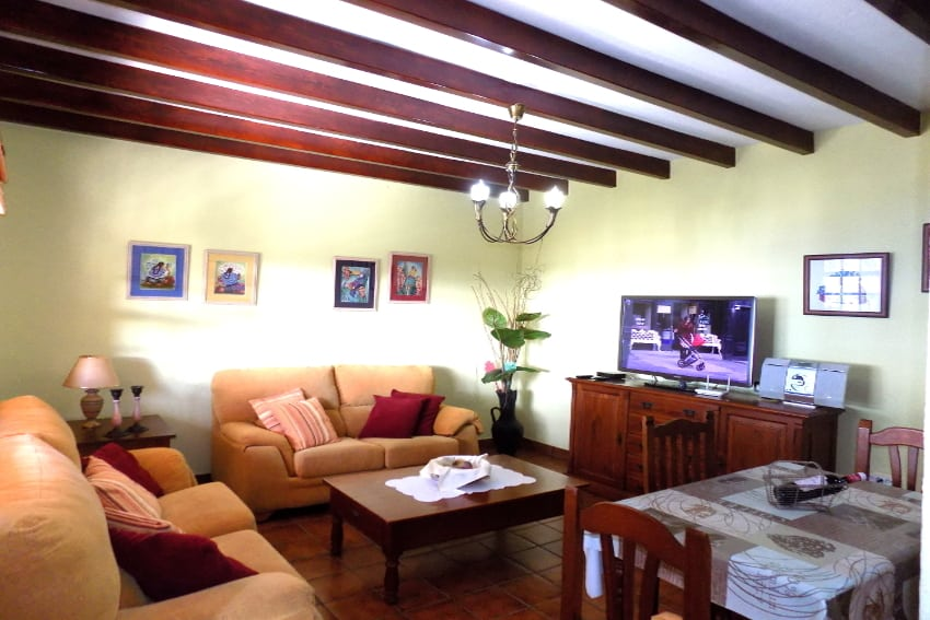 Spain - Canary Islands - La Palma - La Punta - Casa Paula - comfortable living and dining room