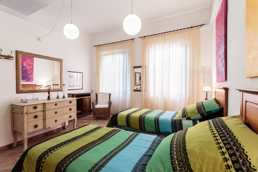 Spain - Canary Islands - La Palma - Tazacorte - Casa Havana - Cozy bright bedroom with single beds