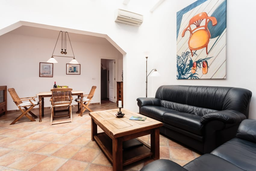 Spain - Canary Islands - La Palma - Tazacorte - Casa Havana - Cozy living room with dining area
