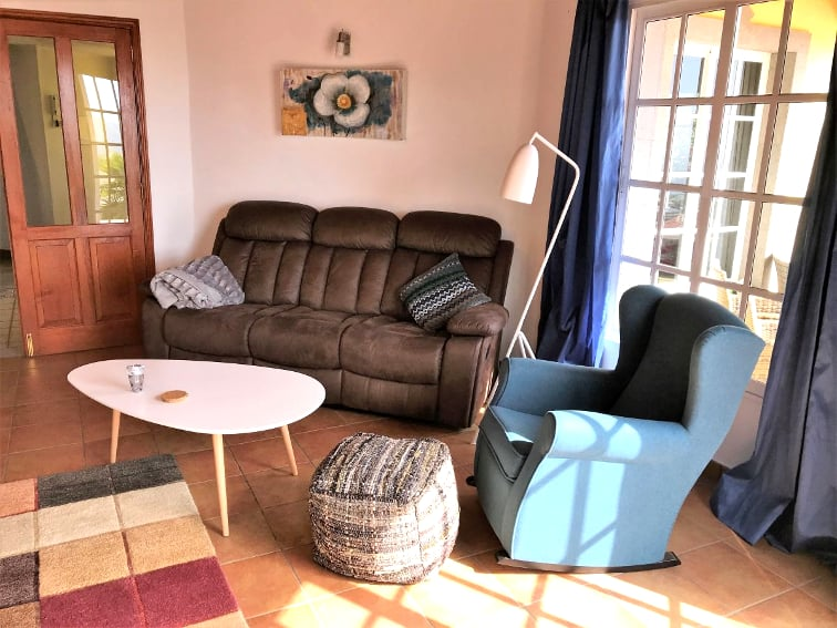 Spain - Canary Islands - La Palma - Los Llanos - Villa Panorámica - Cozy living room
