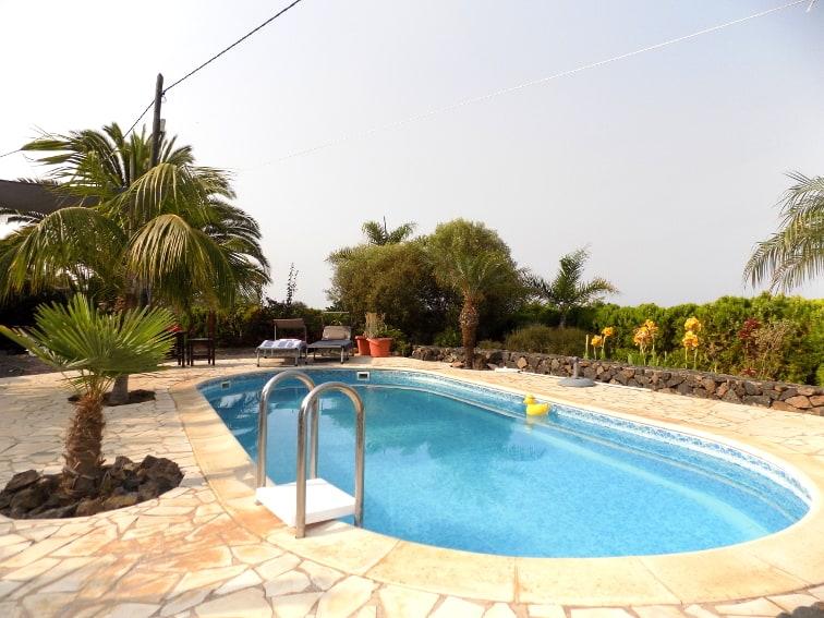 Spain - Canary Islands - La Palma - La Punta - Casa Van de Walle - Private pool with sun terrace
