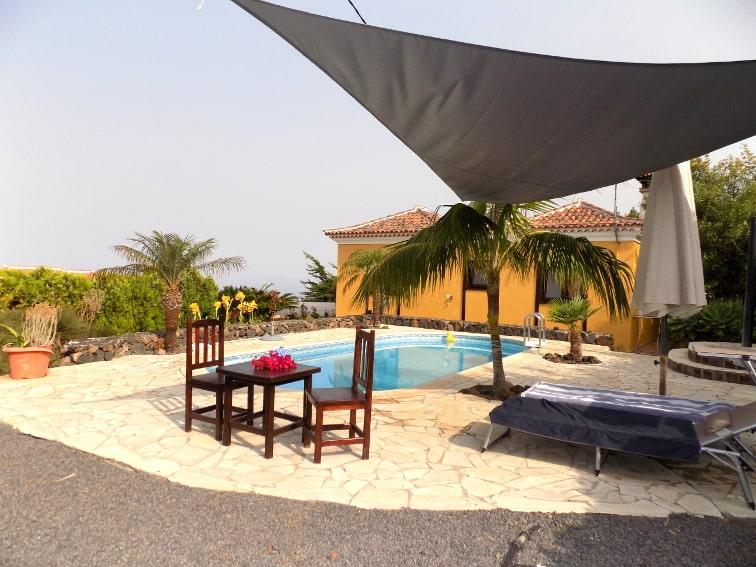 Spain - Canary Islands - La Palma - La Punta - Casa Van de Walle - Private pool and garden on sunny La Palma