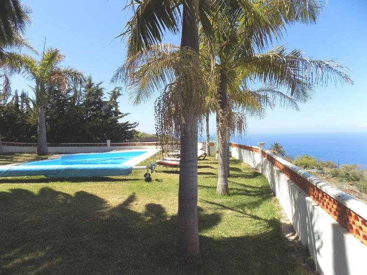 España - Islas Canarias - La Palma - La Punta - Casa Rincón del Atlántico - Piscina con vista al mar