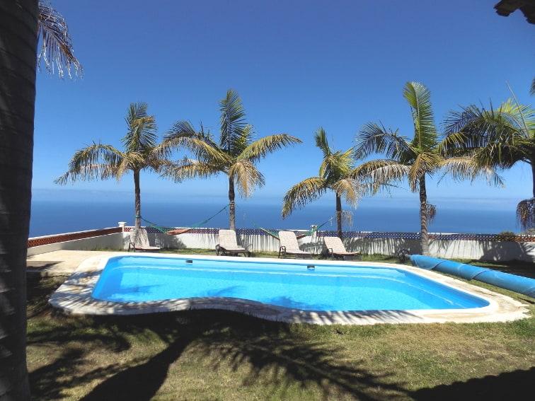 España - Islas Canarias - La Palma - La Punta - Casa Rincón del Atlántico - Piscina privada